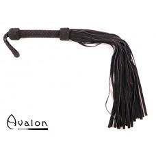 Avalon - MAGIC - Stor Sort Flogger i Mykt Semsket Lær
