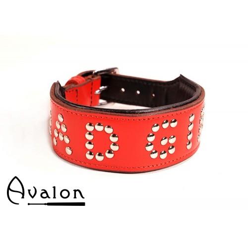 Avalon - YOU'RE MY - Collar Bad girl - Rød