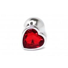 BQS - Buttplug med Hjertekrystall Rød