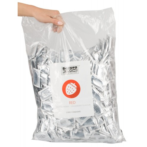 Secura Kondomer med Jordbærsmak 50 pk